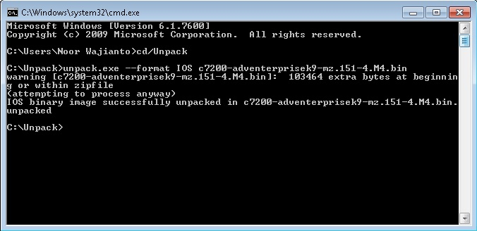 Cara Unpack Cisco IOS Untuk GNS3   Networking and Internetworking